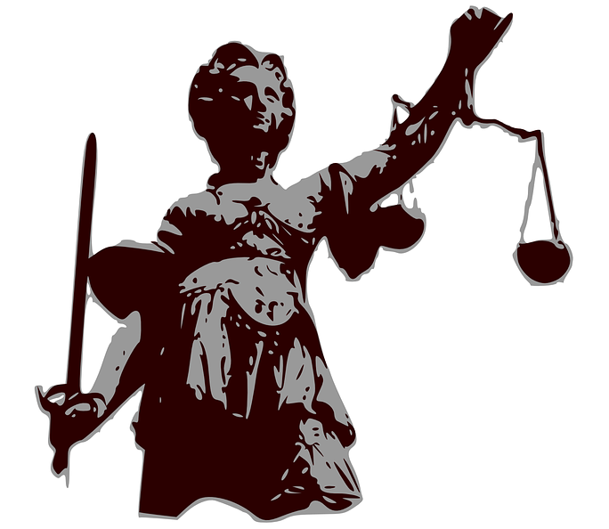 Picture of lady justice with a sword